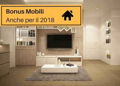Bonus mobili valido anche per il 2018 mdm interni for Acquisto mobili ristrutturazione 2018