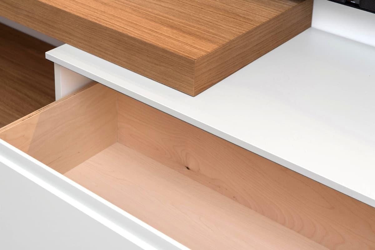 Dettaglio di arredamento personalizzato da soggiorno