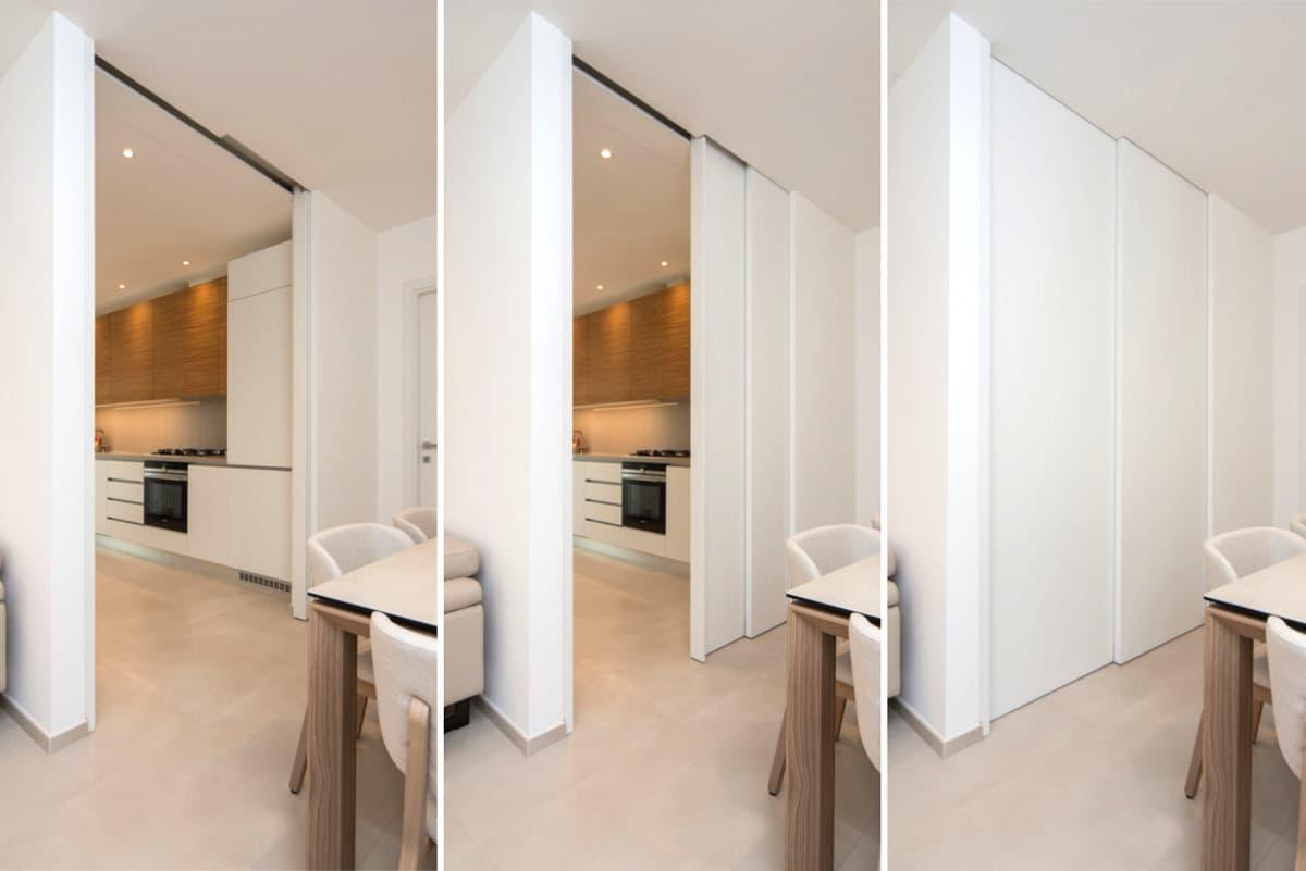 Ingreddo alla cucina dal soggiorno - foto della porta scorrevole